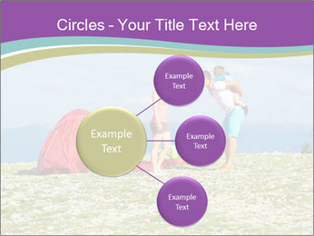 Happy family camping in mountains PowerPoint Templates - Slide 79