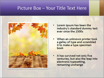 Autumn design - Forest with wood fence PowerPoint Templates - Slide 13