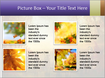 Autumn design - Forest with wood fence PowerPoint Templates - Slide 14