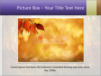Autumn design - Forest with wood fence PowerPoint Templates - Slide 15