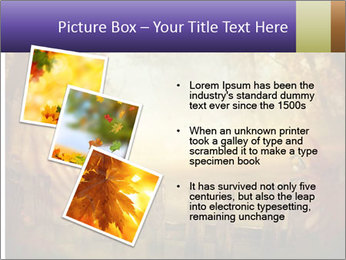 Autumn design - Forest with wood fence PowerPoint Templates - Slide 17