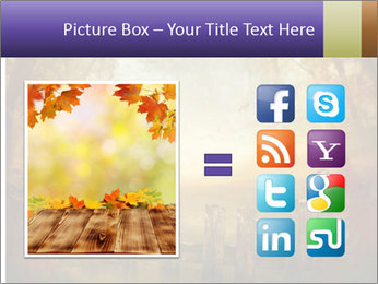 Autumn design - Forest with wood fence PowerPoint Templates - Slide 21