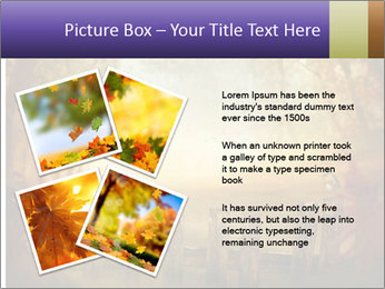 Autumn design - Forest with wood fence PowerPoint Templates - Slide 23