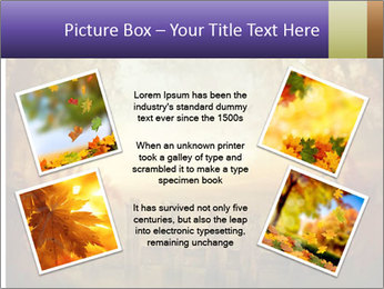 Autumn design - Forest with wood fence PowerPoint Templates - Slide 24