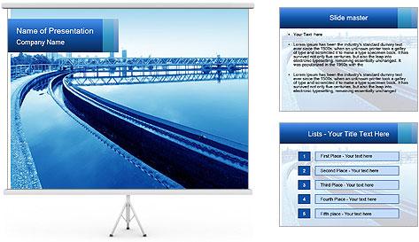 Modern urban wastewater treatment PowerPoint Template