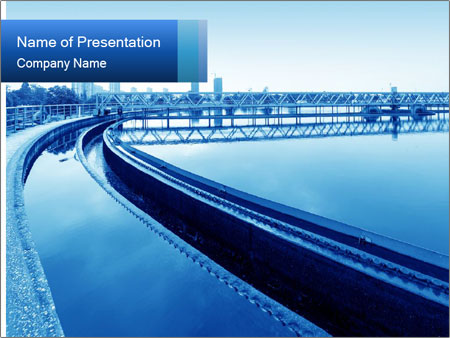 Modern urban wastewater treatment powerpoint template modern urban wastewater treatment powerpoint templates toneelgroepblik