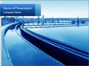 Modern urban wastewater treatment PowerPoint Templates