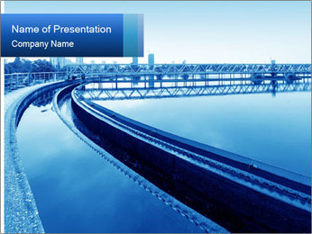 Modern urban wastewater treatment PowerPoint Template - Slide 1