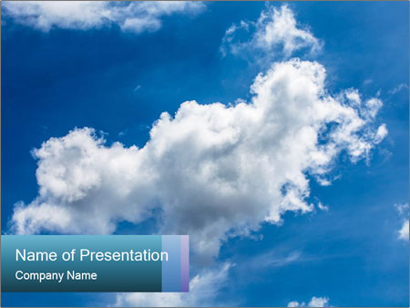 Skys in thailand PowerPoint Templates