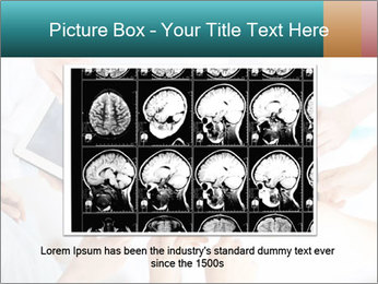 Group of doctors looking at x-ray on tablet pc PowerPoint Template - Slide 15