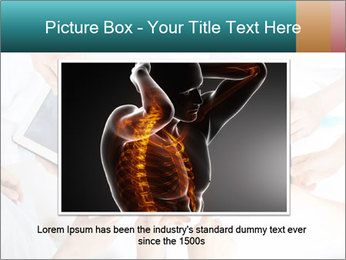 Group of doctors looking at x-ray on tablet pc PowerPoint Template - Slide 16