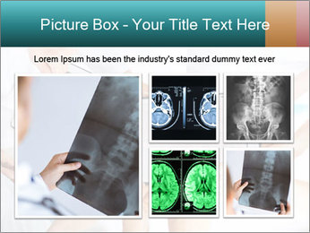 Group of doctors looking at x-ray on tablet pc PowerPoint Template - Slide 19