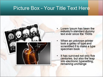 Group of doctors looking at x-ray on tablet pc PowerPoint Template - Slide 20