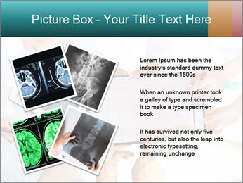 Group of doctors looking at x-ray on tablet pc PowerPoint Template - Slide 23