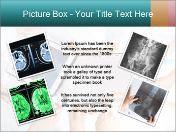 Group of doctors looking at x-ray on tablet pc PowerPoint Template - Slide 24