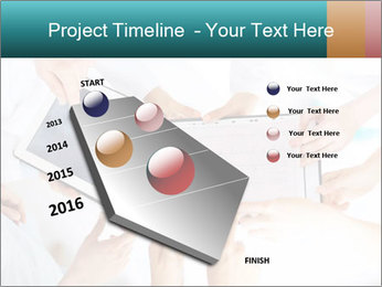 Group of doctors looking at x-ray on tablet pc PowerPoint Template - Slide 26