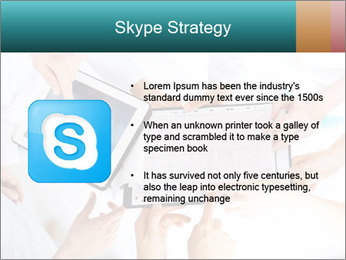 Group of doctors looking at x-ray on tablet pc PowerPoint Template - Slide 8