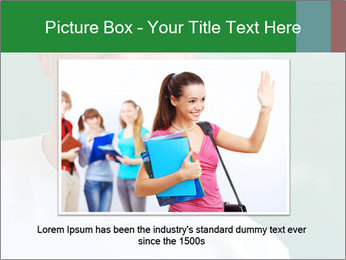 Happy student in a white shirt standing PowerPoint Template - Slide 16