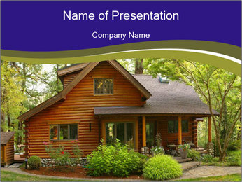 Oregon Forest Modern Log Cabin PowerPoint Template