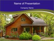 Oregon Forest Modern Log Cabin PowerPoint Templates