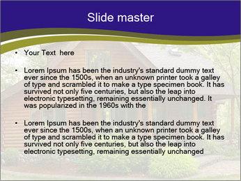 Oregon Forest Modern Log Cabin PowerPoint Template - Slide 2