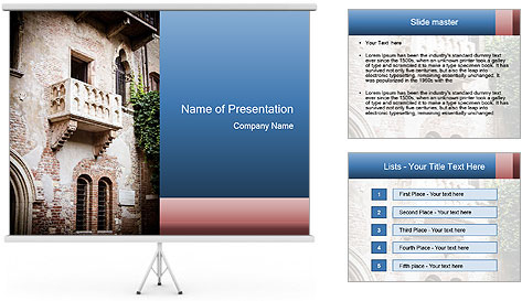 The famous Julia Balcony PowerPoint Template