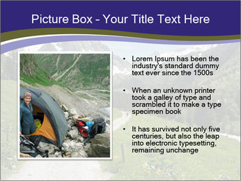Hikers in the Alps, France PowerPoint Template - Slide 13