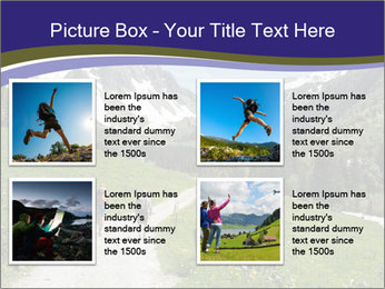 Hikers in the Alps, France PowerPoint Template - Slide 14