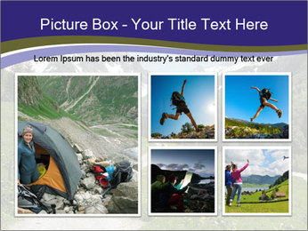 Hikers in the Alps, France PowerPoint Template - Slide 19