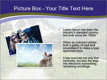 Hikers in the Alps, France PowerPoint Template - Slide 20