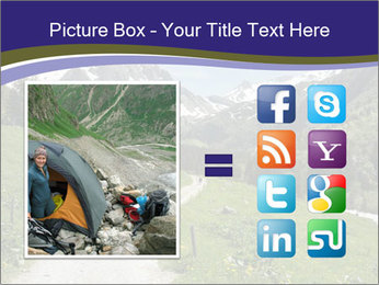 Hikers in the Alps, France PowerPoint Template - Slide 21