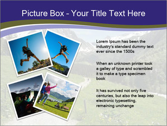 Hikers in the Alps, France PowerPoint Template - Slide 23