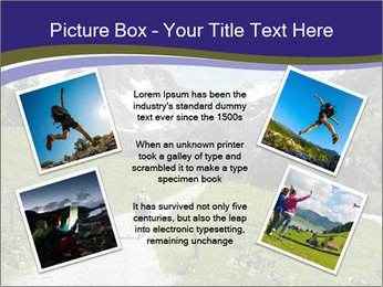 Hikers in the Alps, France PowerPoint Template - Slide 24