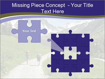 Hikers in the Alps, France PowerPoint Template - Slide 45