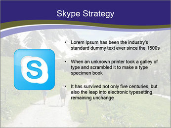 Hikers in the Alps, France PowerPoint Template - Slide 8