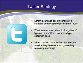 Hikers in the Alps, France PowerPoint Template - Slide 9