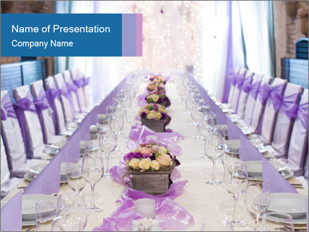 Festive table PowerPoint Template