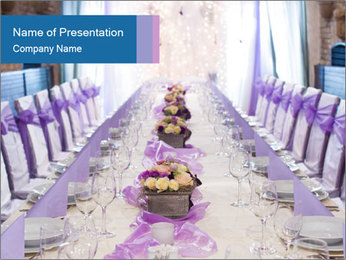 Festive table PowerPoint Template - Slide 1