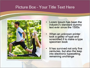 Close up portrait of male coach timing runner PowerPoint Template - Slide 13