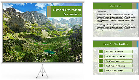 Amazing view of mountain lakes PowerPoint Template