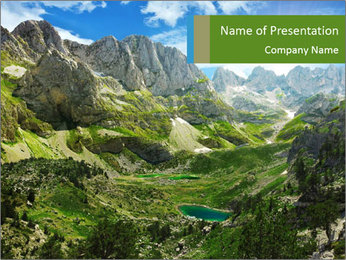 Amazing view of mountain lakes PowerPoint Template - Slide 1