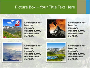 Amazing view of mountain lakes PowerPoint Template - Slide 14
