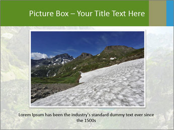 Amazing view of mountain lakes PowerPoint Template - Slide 15
