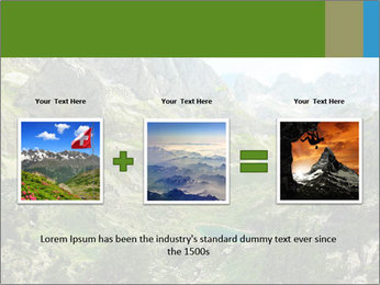 Amazing view of mountain lakes PowerPoint Template - Slide 22