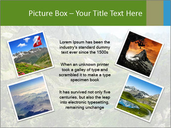 Amazing view of mountain lakes PowerPoint Template - Slide 24