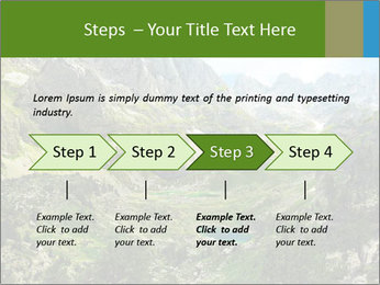 Amazing view of mountain lakes PowerPoint Template - Slide 4