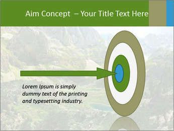 Amazing view of mountain lakes PowerPoint Template - Slide 83