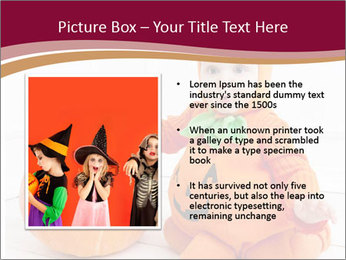 Child in pumpkin suit PowerPoint Template - Slide 13