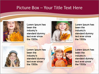 Child in pumpkin suit PowerPoint Templates - Slide 14
