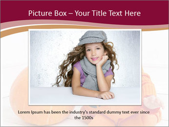 Child in pumpkin suit PowerPoint Template - Slide 15